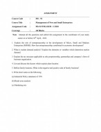 MS93-IGNOU MBA Solved Assignment 2020/Semester-I (Management of New and Small Enterprises)