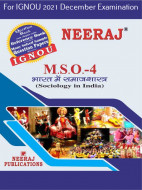 MSO4, Sociology in India (Hindi Medium), IGNOU Master of Arts (Sociology)(MSO) Neeraj Publications | Guide for MSO-4 for December 2021 Exams with Sample Papers