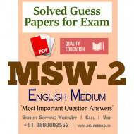 MSW2 IGNOU Solved Sample Papers/Most Important Questions Answers for Exam-English Medium