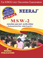 MSW2, Professional Social Work: Indian Perspectives (Hindi Medium), IGNOU Master of Social Work (MSW) Neeraj Publications | Guide for MSW-2 for December 2021 Exams with Sample Papers