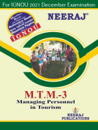 MTTM3, Managing Personnel in Tourism (English Medium), IGNOU Master of Tourism and Travel Management (MTTM) Neeraj Publications | Guide for MTTM-3 for December 2021 Exams with Sample Papers