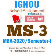 MS3-IGNOU MBA Solved Assignment 2020/Semester-I (Economic and Social Environment)