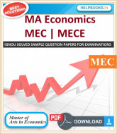 IGNOU MA Economics Solved Assignments-MEC | e-Assignment Copy | 2019-2020