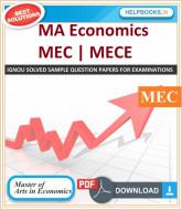 IGNOU MA Economics Solved Assignments-MEC | e-Assignment Copy | 2019-2020