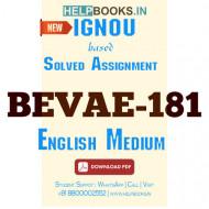 AECC181 Solved Assignment (English Medium)-Environmental Studies