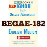 Download BEGAE182 Solved Assignment 2020-2021-English Communication Skills