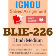 Download BLIE226 IGNOU Solved Assignment 2020-2021 (Hindi Medium)