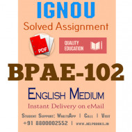 Download BPAE102 IGNOU Solved Assignment 2020-2021 (English Medium)