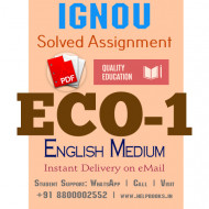 Download ECO1 IGNOU Solved Assignment 2020-2021 (English Medium)