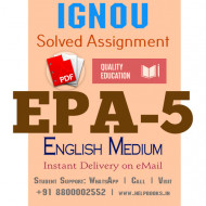Download EPA5 IGNOU Solved Assignment 2020-2021 (English Medium)