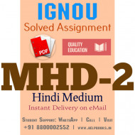Download MHD2 IGNOU Solved Assignment 2020-2021