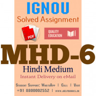 Download MHD6 IGNOU Solved Assignment 2020-2021
