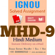 Download MHD9 IGNOU Solved Assignment 2020-2021
