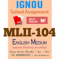 Download MLII104 IGNOU Solved Assignment 2020-2021 (English Medium)