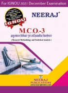 MCO3, Research Methodology and Statistical Analysis (Hindi Medium), IGNOU Master of Commerce (MCOM) Neeraj Publications | Guide for MCO-3 for December 2021 Exams with Sample Papers