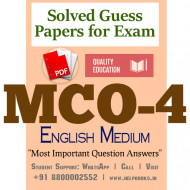 MCO4 IGNOU Solved Sample Papers/Most Important Questions Answers for Exam-English Medium