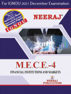 MECE4, Financial Institutions and Markets (English Medium), IGNOU Master of Arts (Economics)(MEC) Neeraj Publications | Guide for MECE-4 for December 2021 Exams with Sample Papers