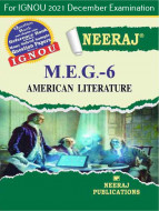 MEG6, American Literature (English Medium), IGNOU Master of Arts (English)(MEG) Neeraj Publications | Guide for MEG-6 for December 2021 Exams with Sample Papers
