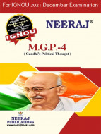 MGP4, Gandhi's Political Thought (English Medium), IGNOU Master of Arts (Political Science) (MPS) Neeraj Publications | Guide for MGP-4 for December 2021 Exams with Sample Papers