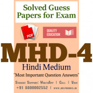 MHD4 IGNOU Solved Sample Papers/Most Important Questions Answers for Exam