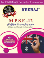 MPSE12, State and Society in Australia (Hindi Medium), IGNOU Master of Arts (Political Science) (MPS) Neeraj Publications | Guide for MPSE-12 for December 2021 Exams with Sample Papers