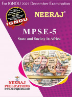 MPSE5, State and Society in Africa (English Medium), IGNOU Master of Arts (Political Science) (MPS) Neeraj Publications | Guide for MPSE-5 for December 2021 Exams with Sample Papers