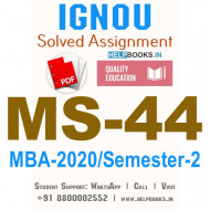 MS44-IGNOU MBA Solved Assignment 2020/Semester-II (Security Analysis and Portfolio Management)