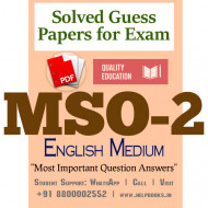 MSO2 IGNOU Solved Sample Papers/Most Important Questions Answers for Exam-English Medium