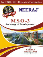 MSO3, Sociology of Development (English Medium), IGNOU Master of Arts (Sociology)(MSO) Neeraj Publications | Guide for MSO-3 for December 2021 Exams with Sample Papers