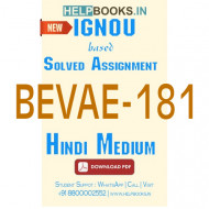 BEVAE181 Solved Assignment (Hindi Medium)-Environmental Studies BEVAE-181