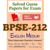 BPSE212 IGNOU Solved Sample Papers/Most Important Questions Answers for Exam-English Medium