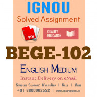 Download BEGE102 IGNOU Solved Assignment 2020-2021