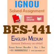 Download BES141-IGNOU B.ed IGNOU Solved Assignment 2020-2021 (Pedagogy of Science) (English Medium)
