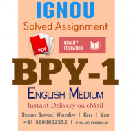 Download BPY1 IGNOU Solved Assignment 2020-2021 (English Medium)
