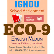 Download ECO9 IGNOU Solved Assignment 2020-2021 (English Medium)