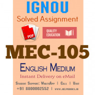 Download MEC105 IGNOU Solved Assignment 2020-2021 (English Medium)