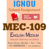 Download MEC109 IGNOU Solved Assignment 2020-2021 (English Medium)