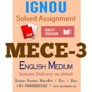 Download MECE3 IGNOU Solved Assignment 2020-2021 (English Medium)