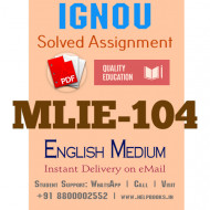 Download MLIE104 IGNOU Solved Assignment 2020-2021 (English Medium)