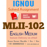 Download MLII102 IGNOU Solved Assignment 2020-2021 (English Medium)