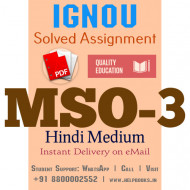 Download MSO3 IGNOU Solved Assignment 2020-2021 (Hindi Medium)