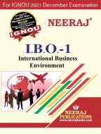 IBO1, International Business Environment (English Medium), IGNOU Master of Commerce (MCOM) Neeraj Publications | Guide for IBO-1 for December 2021 Exams with Sample Papers