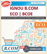 IGNOU B.COM Solved Assignments-ECO | e-Assignment Copy | 2020-21