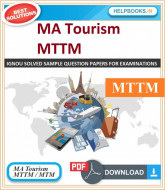 IGNOU Master of Tourism and Travel Management Solved Assignments | e-Assignment Copy | 2019-2020-MTM/MTTM