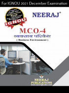 MCO4, Business Environment (Hindi Medium), IGNOU Master of Commerce (MCOM) Neeraj Publications | Guide for MCO-4 for December 2021 Exams with Sample Papers