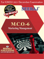 MCO6, Marketing Management (English Medium), IGNOU Master of Commerce (MCOM) Neeraj Publications | Guide for MCO-6 for December 2021 Exams with Sample Papers