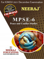 MPSE6, Peace and Conflict Studies (English Medium), IGNOU Master of Arts (Political Science) (MPS) Neeraj Publications | Guide for MPSE-6 for December 2021 Exams with Sample Papers