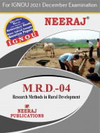 MRD4, Research Methods in Rural Development (English Medium), IGNOU Master of Arts (Rural Development) (MARD) Neeraj Publications | Guide for MRD-4 for December 2021 Exams with Sample Papers
