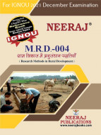 MRD4, Research Methods in Rural Development (Hindi Medium), IGNOU Master of Arts (Rural Development) (MARD) Neeraj Publications | Guide for MRD-4 for December 2021 Exams with Sample Papers