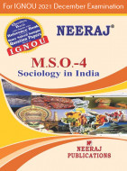 MSO4, Sociology in India (English Medium), IGNOU Master of Arts (Sociology)(MSO) Neeraj Publications | Guide for MSO-4 for December 2021 Exams with Sample Papers